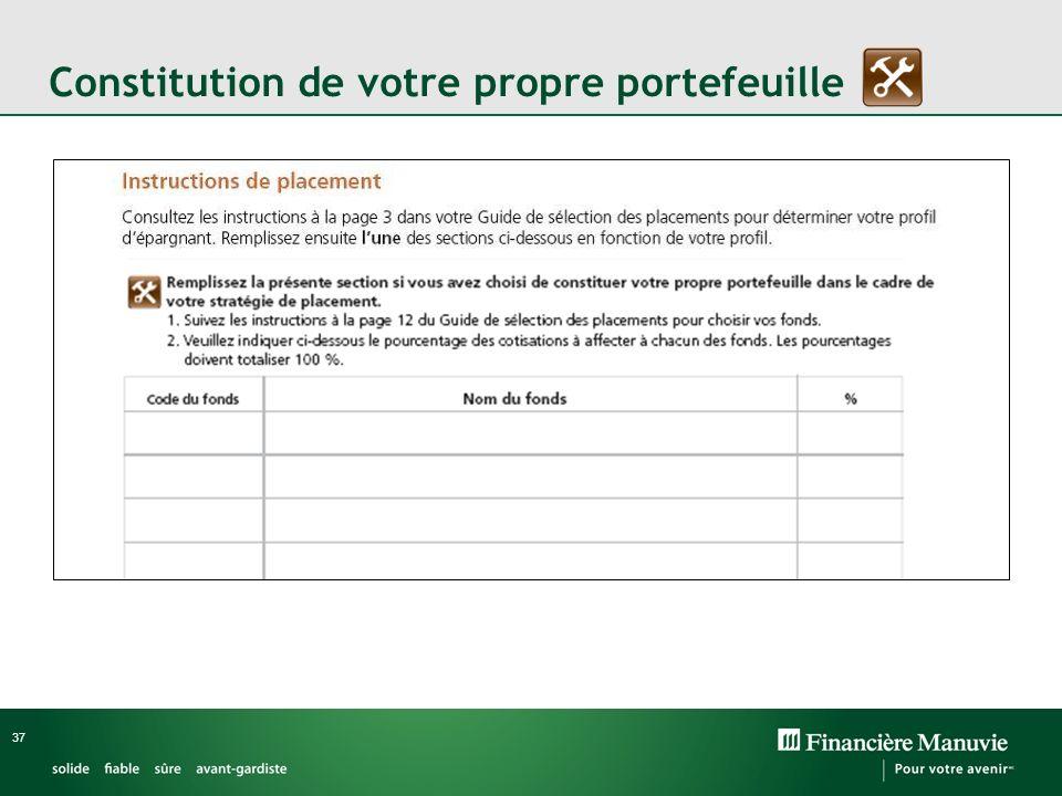 37 Constitution de votre propre portefeuille