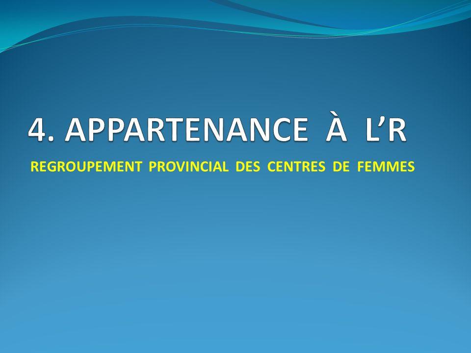 REGROUPEMENT PROVINCIAL DES CENTRES DE FEMMES