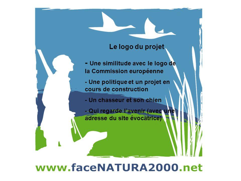 Le logo du projet - Une similitude avec le logo de la Commission européenne - Une politique et un projet en cours de construction - Un chasseur et son chien - Qui regarde lavenir (avec une adresse du site évocatrice)