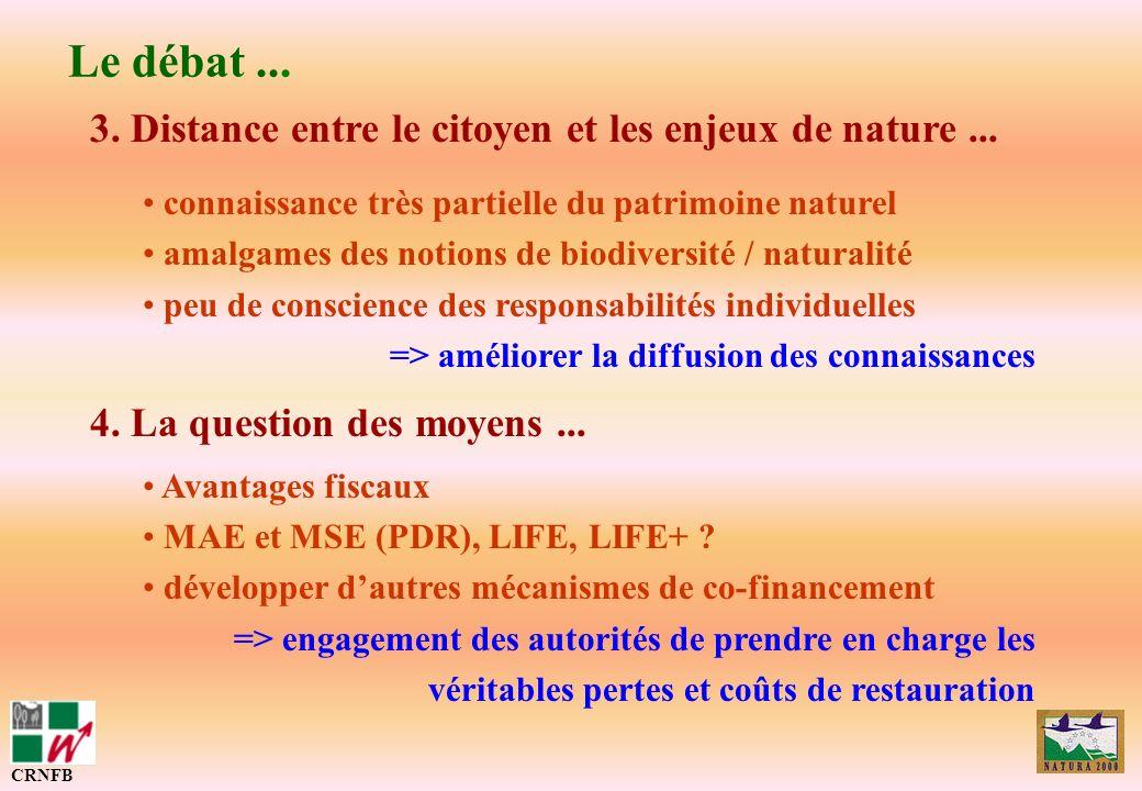 3. Distance entre le citoyen et les enjeux de nature... connaissance très partielle du patrimoine naturel amalgames des notions de biodiversité / natu