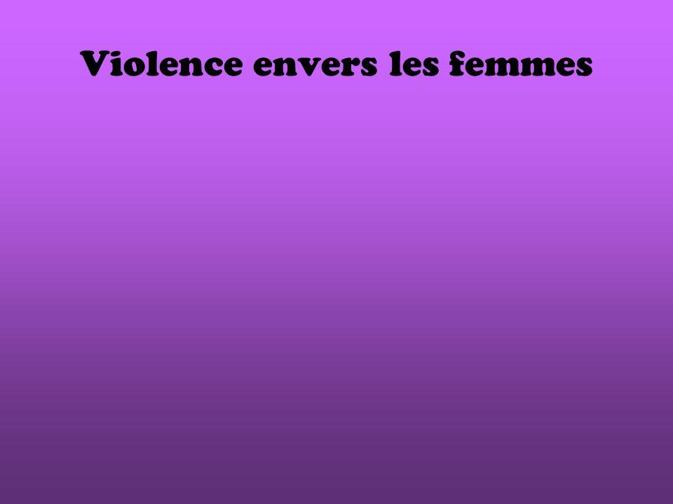Violence envers les femmes