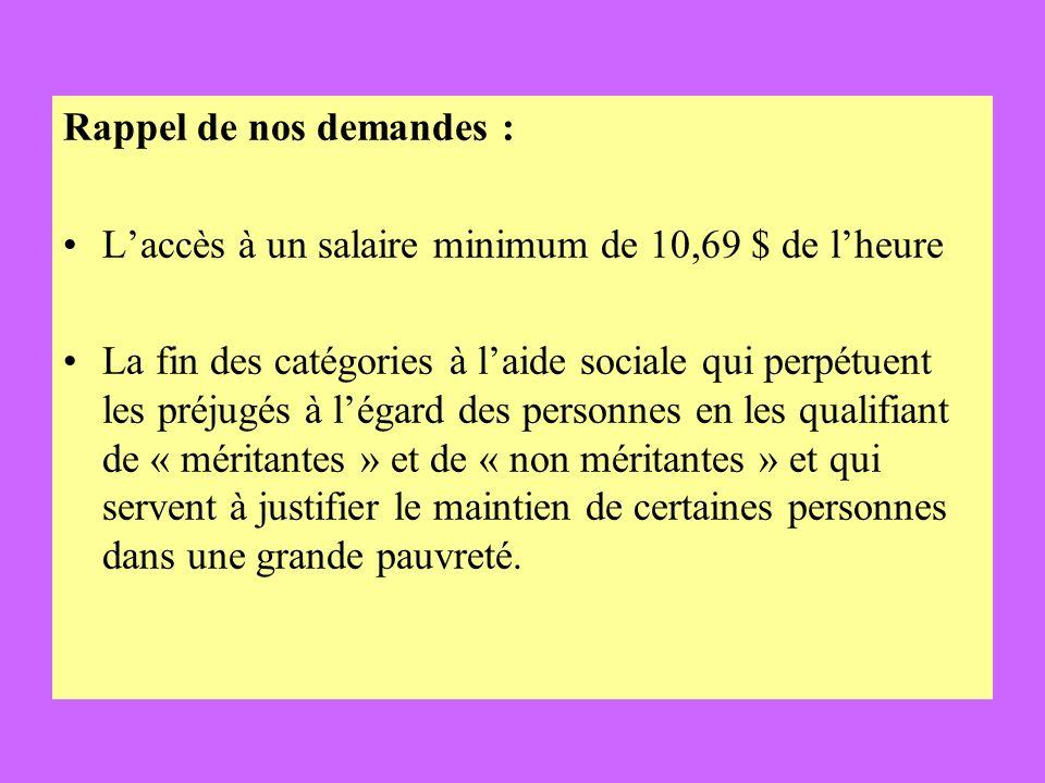 Éducation Larrêt immédiat des frais exigés aux parents du primaire et du secondaire Réponse du gouvernement : Statut quo Réaction de la MMF : Lécole est supposée être gratuite et accessible à tous les enfants du Québec.