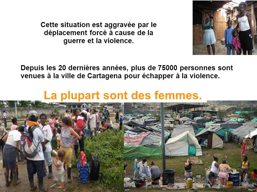 Cette situation est aggravée par le déplacement forcé à cause de la guerre et la violence.