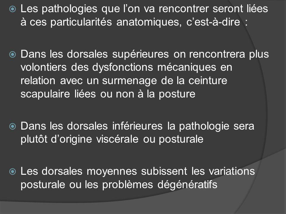 Les dorsalgies aigues 3 types de douleurs peuvent être définies 1/ Les douleurs locales 2/ Les douleurs projetées 3/ Les douleurs somato viscérales ou viscero somatiques
