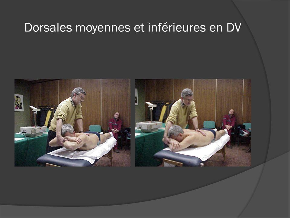 Dorsales moyennes et inférieures en DV