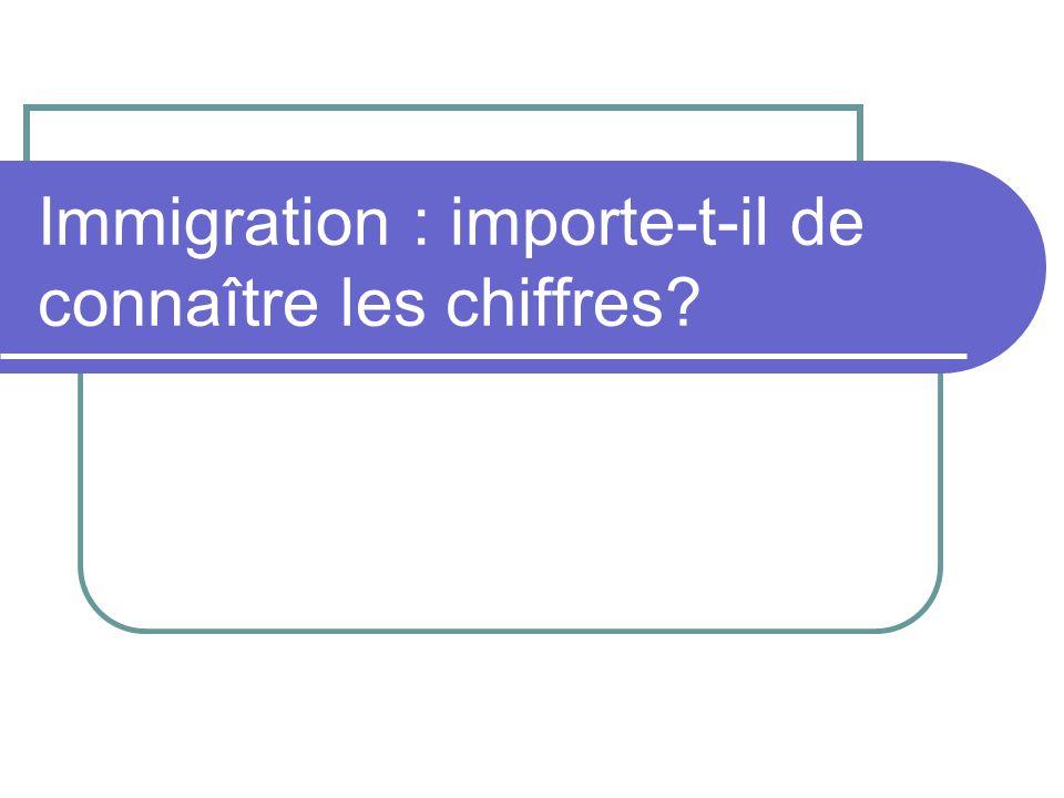Immigration : importe-t-il de connaître les chiffres?