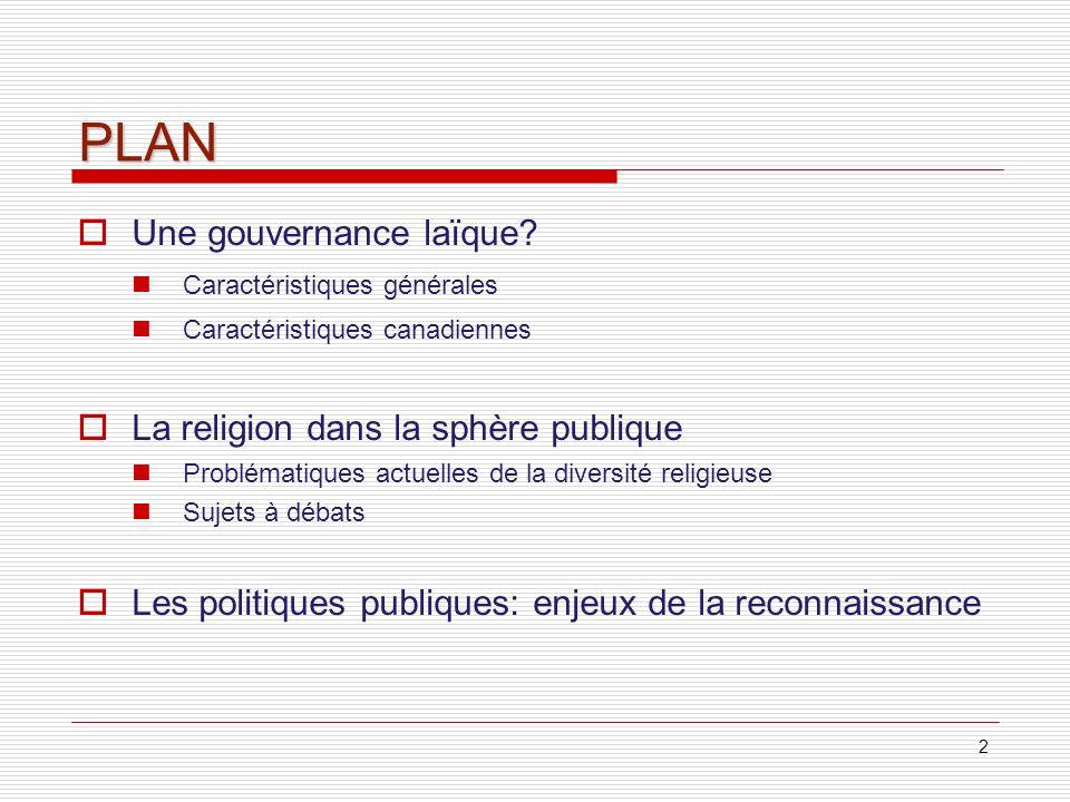 3 1.Une gouvernance laïque.