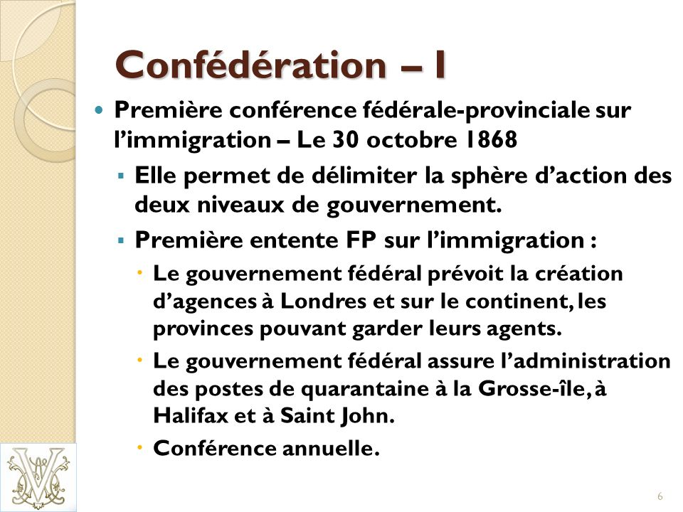 Le Réveil – III En 1968, le Québec crée le ministère de lImmigration.