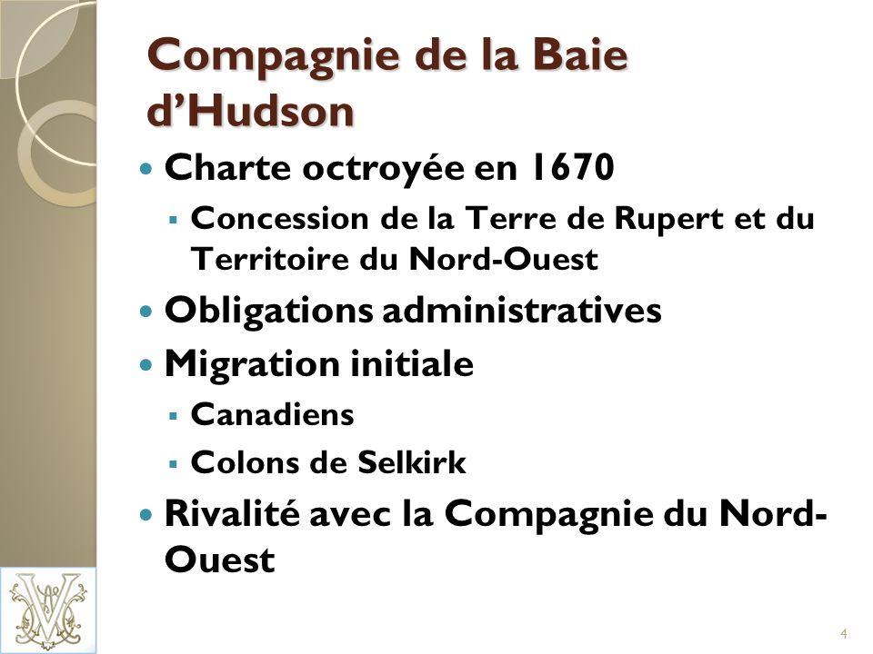 La grande acquisition Confédération Aspirations du Canada par rapport à lOuest Charte royale à revoir Déclin du commerce de la fourrure Propriétaires de la CBH plus intéressés par le territoire et son aménagement Négociations à trois (Canada, Royaume-Uni et CBH) aboutissent à lachat de la Terre de Rupert et du Territoire du Nord-Ouest en 1870 5