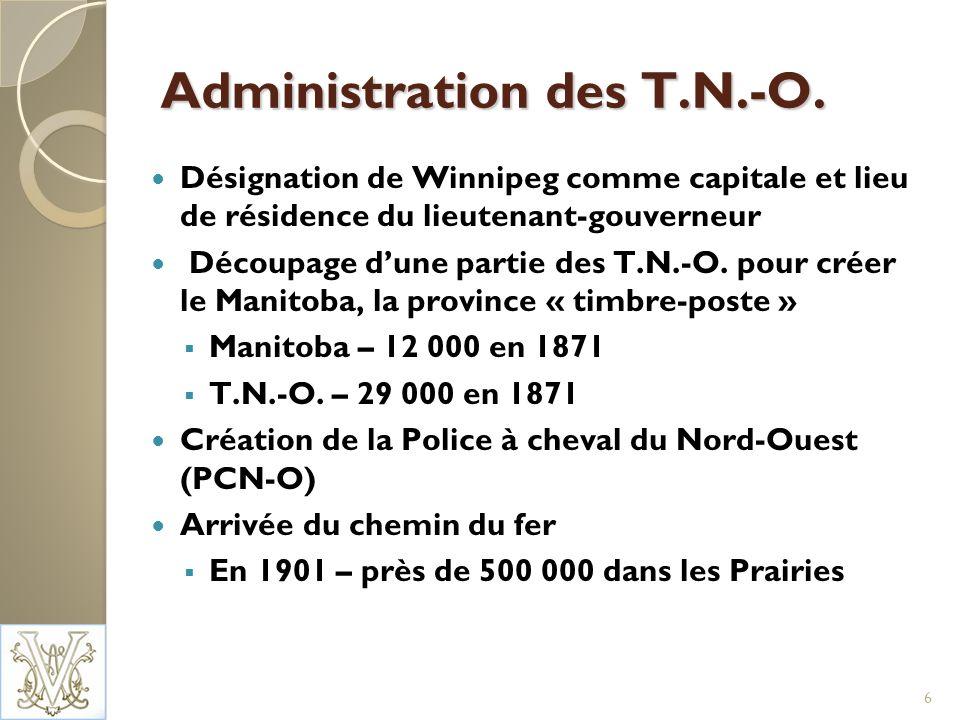 Services détablissement Au Yukon, le fournisseur de services (FS) est lAssociation franco-yukonnaise 2008-2009 : PEAI : 93 836 $ CLIC : 85 820 $ Programme daccueil : 34 178 $ Aux T.N.-O., le FS principal est le Collège Aurora 2008-2009 : Contrat complet de 156 122 $ De plus, un contrat de 60 000 $ du PEAI avec la Fédération franco-ténoise pour la prestation de services détablissement aux francophones Aucun service détablissement au Nunavut à ce jour 17
