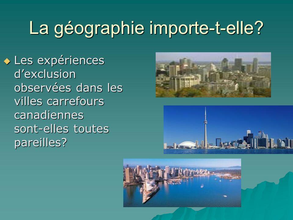 La géographie importe-t-elle.
