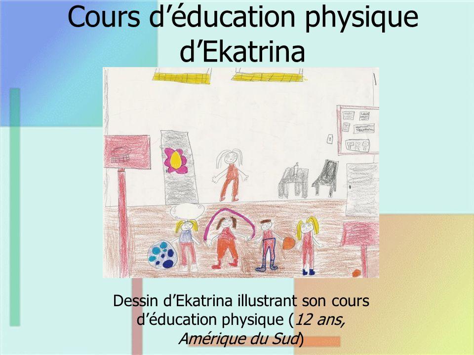 Cours déducation physique dEkatrina Dessin dEkatrina illustrant son cours déducation physique (12 ans, Amérique du Sud)