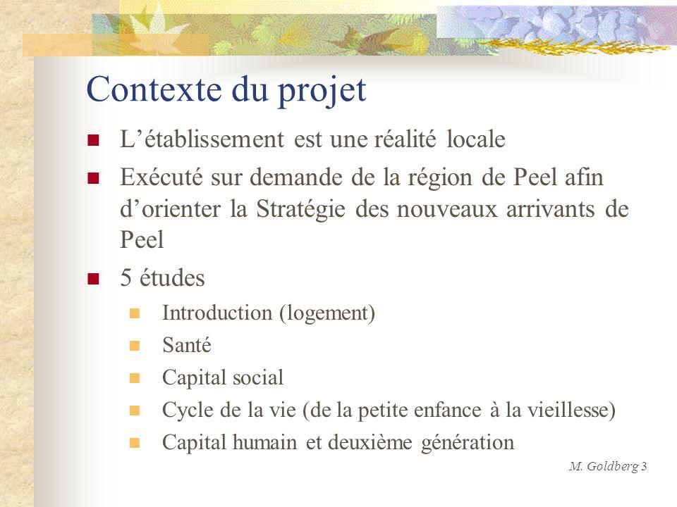 Contexte du projet Létablissement est une réalité locale Exécuté sur demande de la région de Peel afin dorienter la Stratégie des nouveaux arrivants d