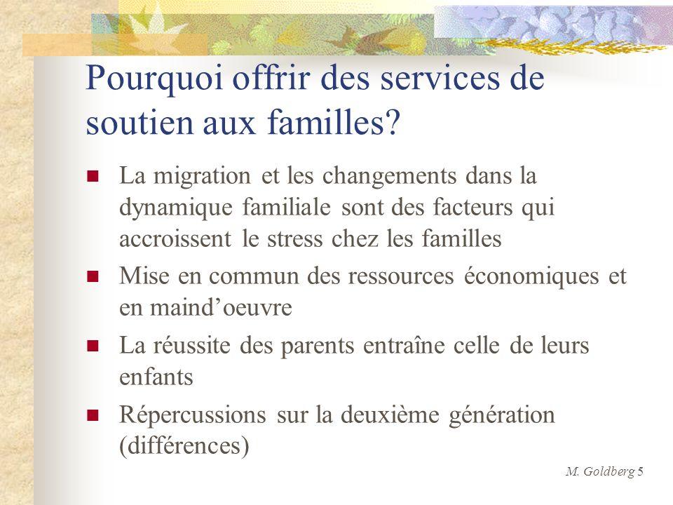 Pourquoi offrir des services de soutien aux familles? La migration et les changements dans la dynamique familiale sont des facteurs qui accroissent le