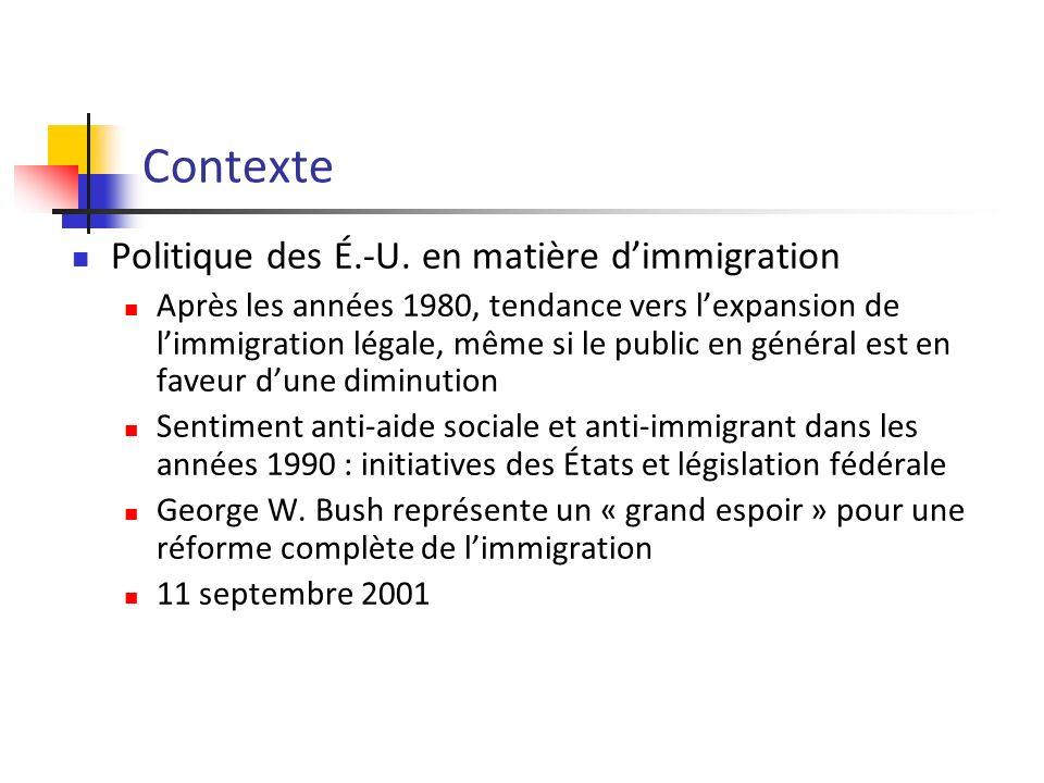 Contexte Politique des É.-U.