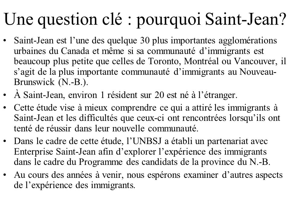 Une question clé : pourquoi Saint-Jean.