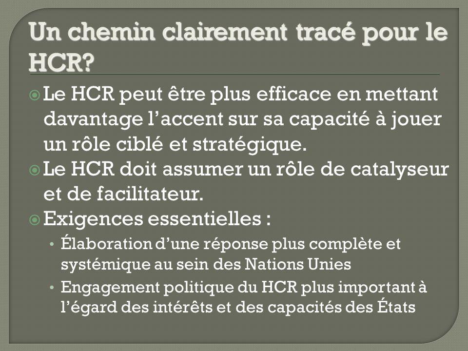 Le HCR peut être plus efficace en mettant davantage laccent sur sa capacité à jouer un rôle ciblé et stratégique.