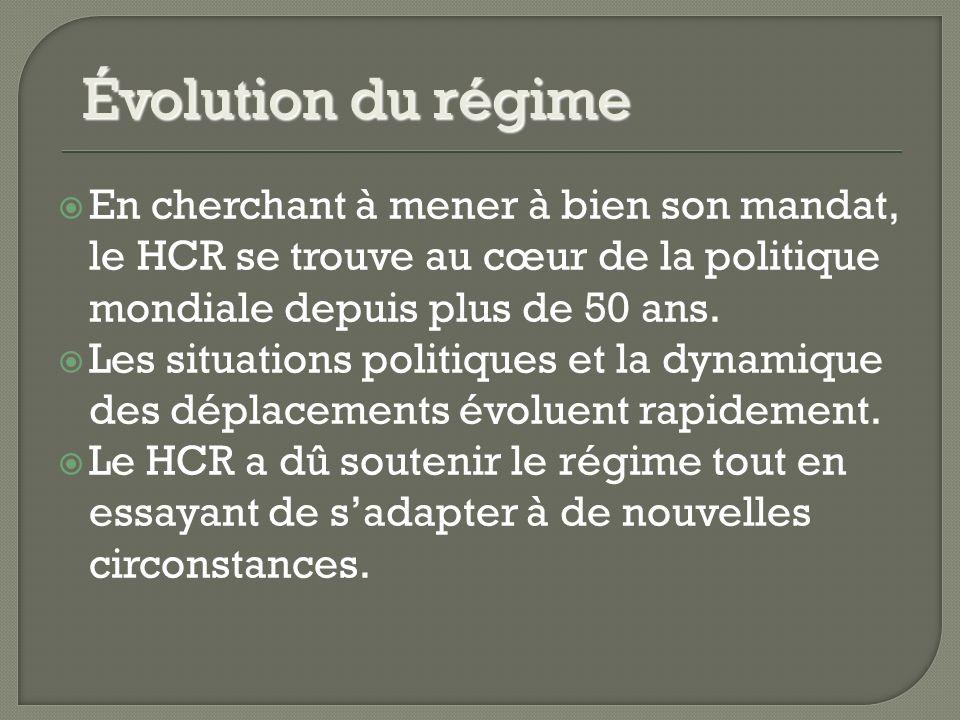 En cherchant à mener à bien son mandat, le HCR se trouve au cœur de la politique mondiale depuis plus de 50 ans.