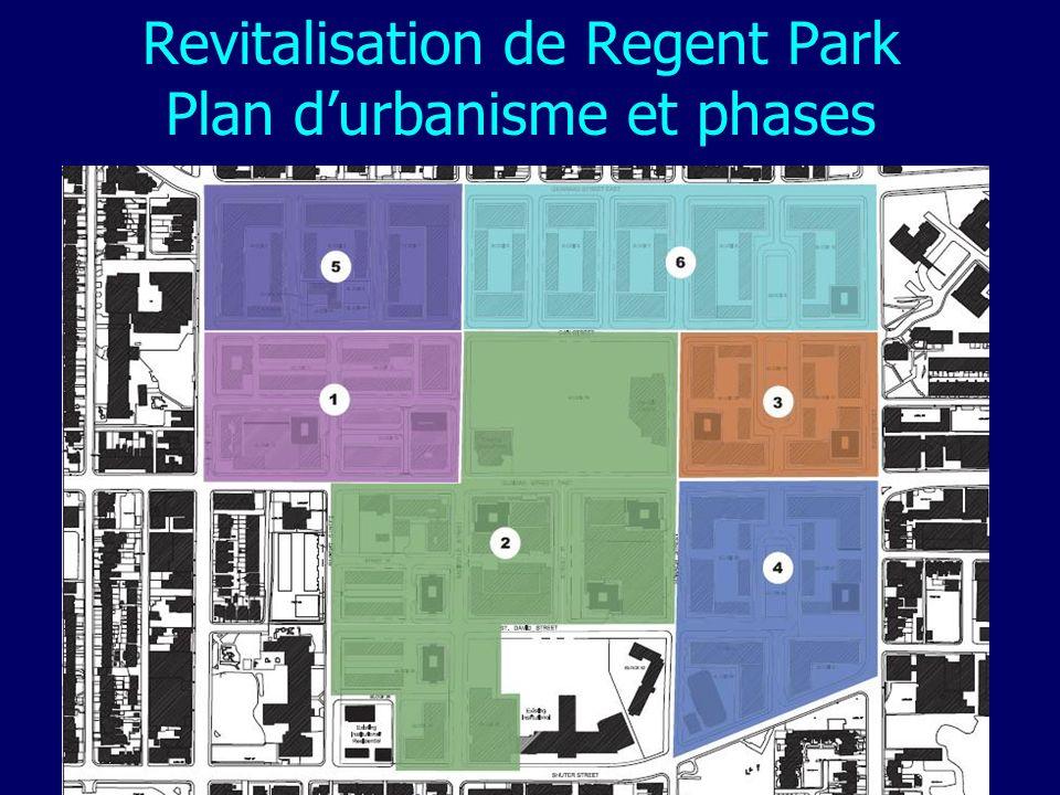 Revitalisation de Regent Park Plan durbanisme et phases