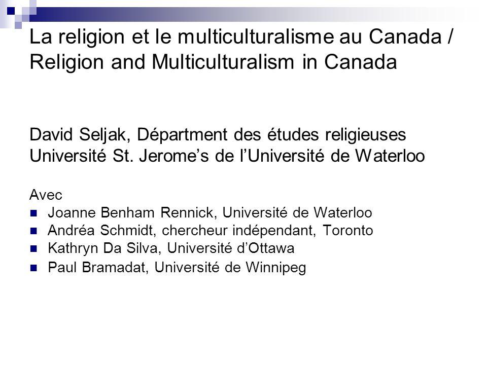 Conclusions générales Lintolérance religieuse et la discrimination sont des obstacles importants à la poursuite du multiculturalisme.