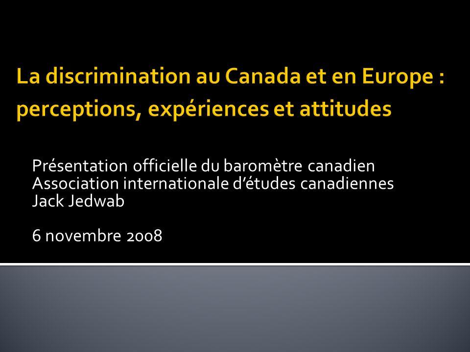 Le sondage commandé par lAssociation détudes canadiennes a été réalisé par la firme Léger Marketing du 9 au 11 septembre 2008 par panel en ligne.