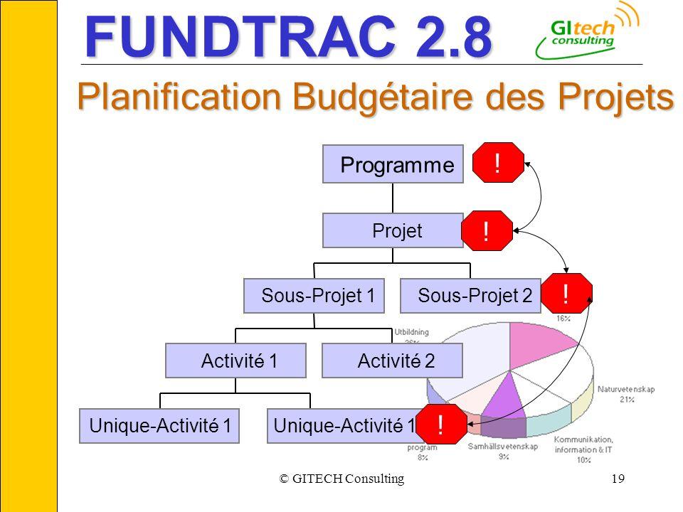 © GITECH Consulting19 ___________________________________________________________ Unique-Activit é 1 Activit é 1Activit é 2 Sous-Projet 1Sous-Projet 2