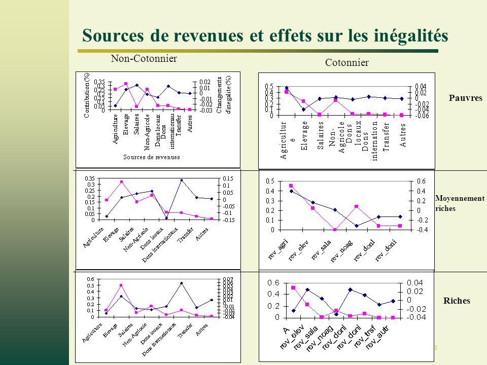 Page 11 Sources de revenues et effets sur les inégalités Pauvres Riches Moyennement riches Non-Cotonnier Cotonnier