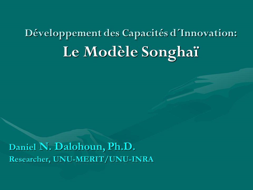Développement des Capacités d´Innovation: Le Modèle Songhaï Daniel N. Dalohoun, Ph.D. Researcher, UNU-MERIT/UNU-INRA