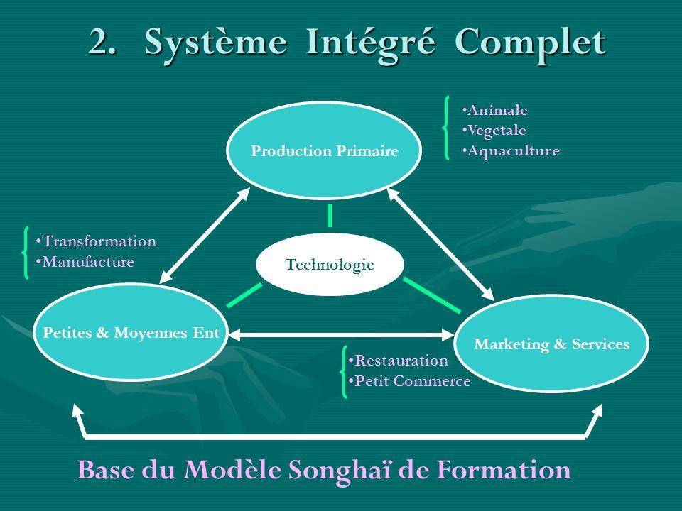 2.Système Intégré Complet Production Primaire Petites & Moyennes Ent Marketing & Services Technologie Animale Vegetale Aquaculture Restauration Petit