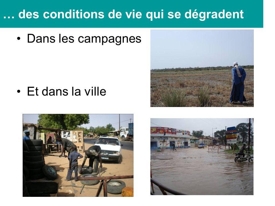 Dans les campagnes Et dans la ville … des conditions de vie qui se dégradent