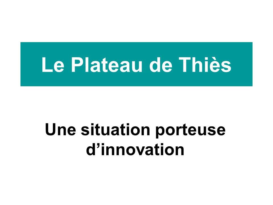Le Plateau de Thiès Une situation porteuse dinnovation