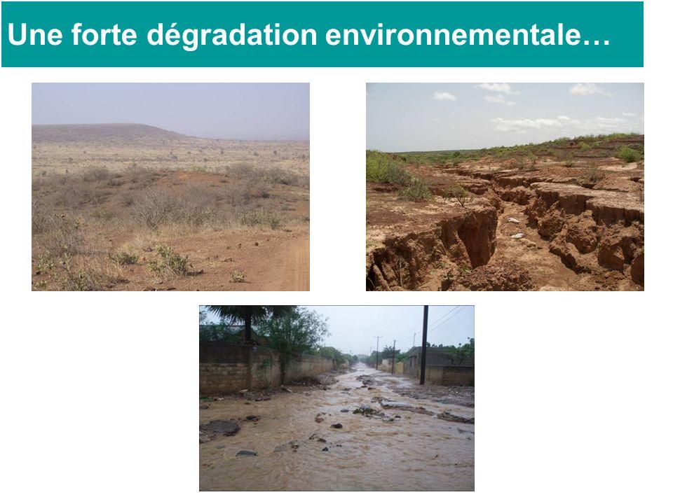 Une forte dégradation environnementale…