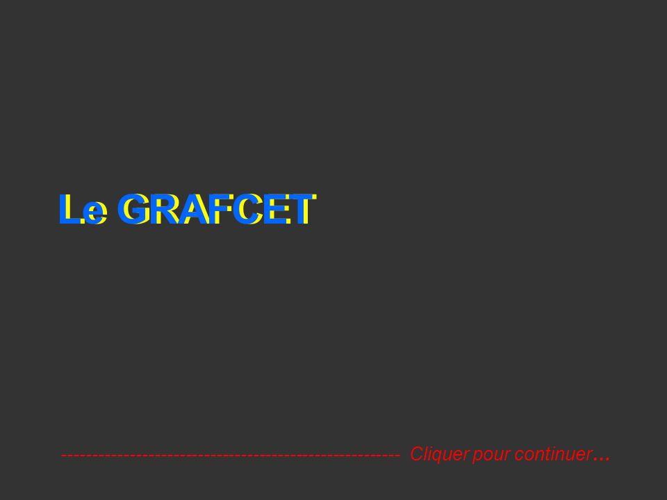 Le GRAFCET ------------------------------------------------------- Cliquer pour continuer…