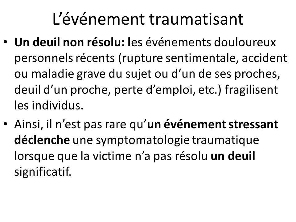 Les paramètres du traumatisme Traumatismes individuels et collectifs: -Les traumatismes individuels: recouvrent des réalités multiples.