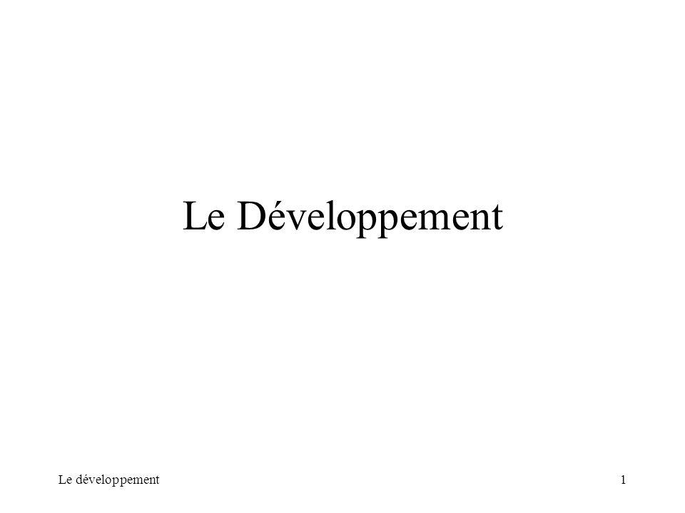 Le développement1 Le Développement