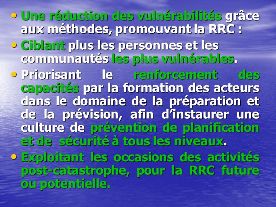 Une réduction des vulnérabilités grâce aux méthodes, promouvant la RRC : Une réduction des vulnérabilités grâce aux méthodes, promouvant la RRC : Cibl