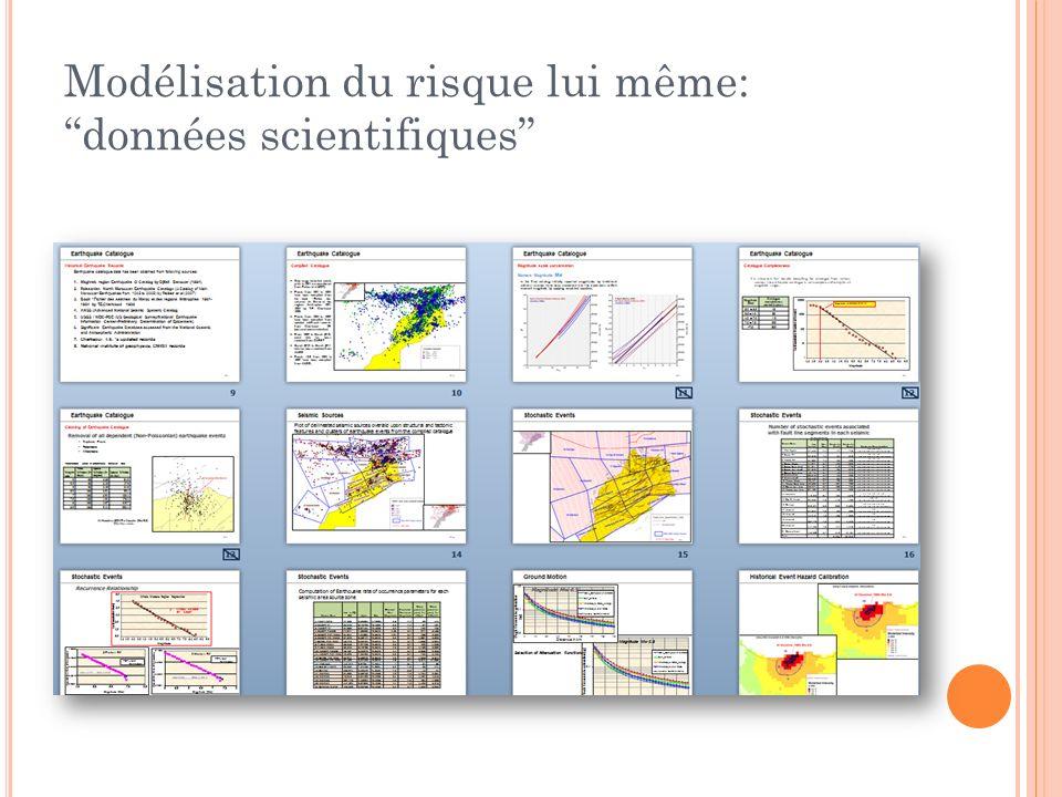Modélisation du risque lui même: données scientifiques