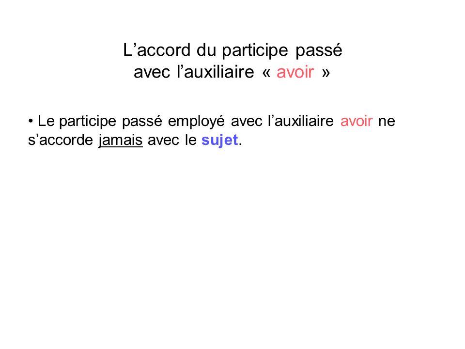 Cas particulier : Laccord du participe passé avec lauxiliaire « être » pour les verbes pronominaux