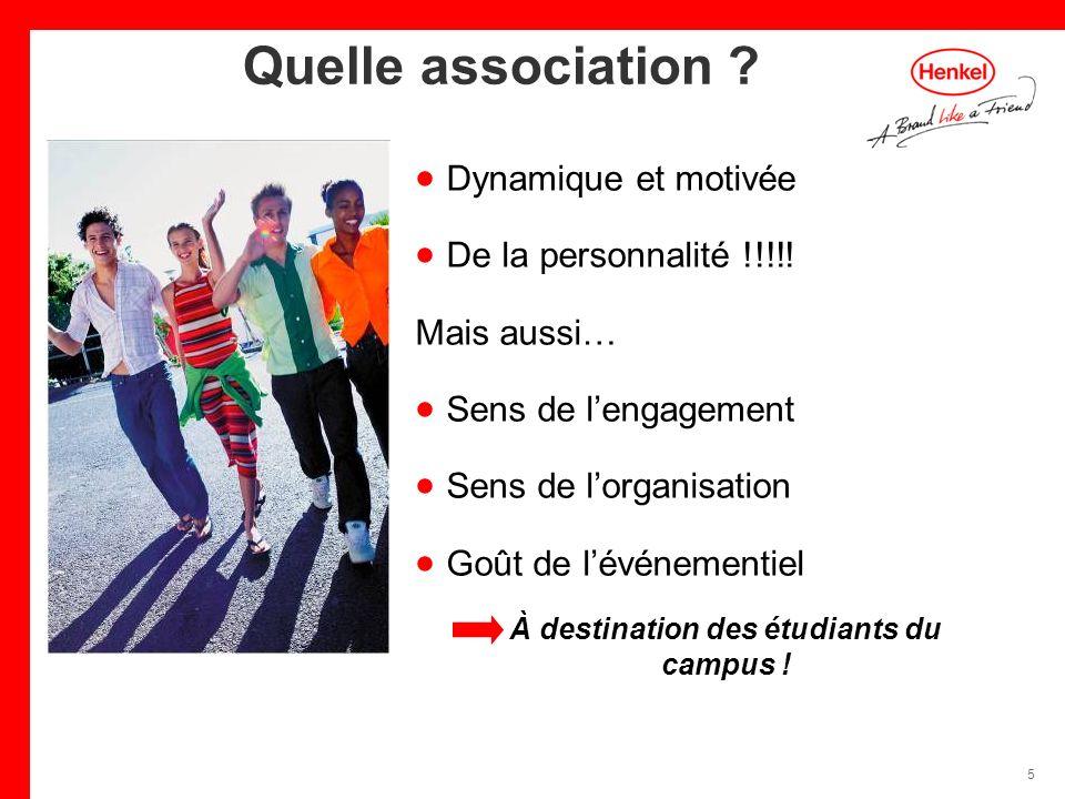 5 Quelle association . Dynamique et motivée De la personnalité !!!!.