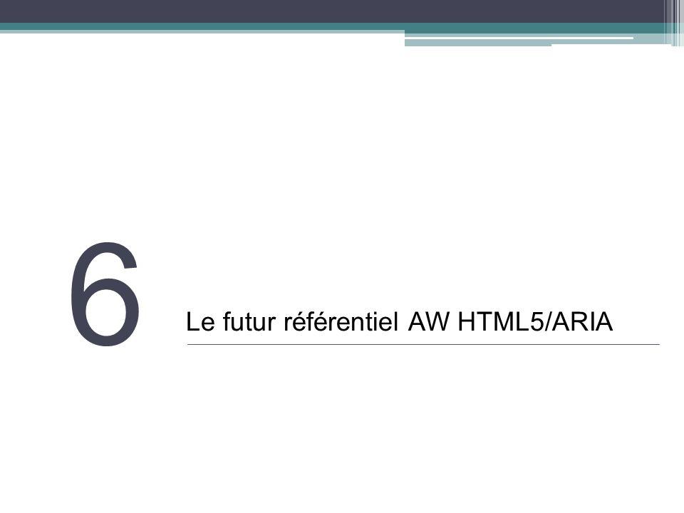 6 Le futur référentiel AW HTML5/ARIA