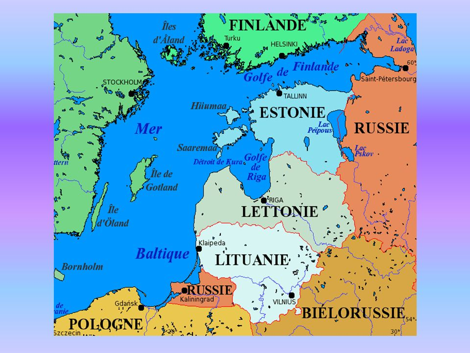 1 Estonie 1.1 – Notions générales 1.1.1 – Géographie LEstonie, avec ses 45 227 kilomètres carrés, est lun des plus petits pays de lUnion européenne, frontalier de la Lettonie au sud et de la Russie à lest.