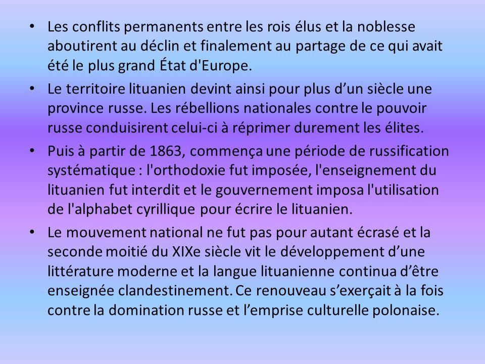 Les conflits permanents entre les rois élus et la noblesse aboutirent au déclin et finalement au partage de ce qui avait été le plus grand État d'Euro