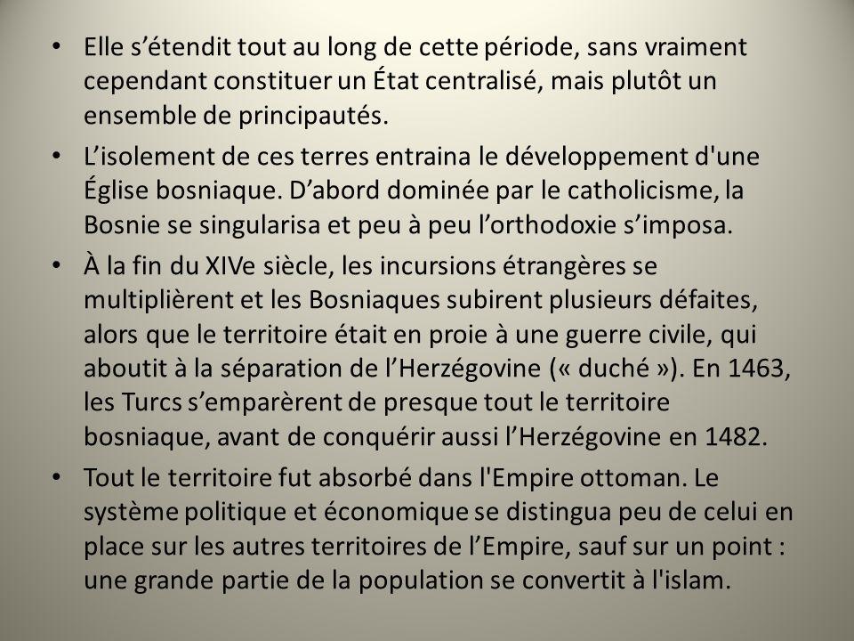 Elle sétendit tout au long de cette période, sans vraiment cependant constituer un État centralisé, mais plutôt un ensemble de principautés. Lisolemen