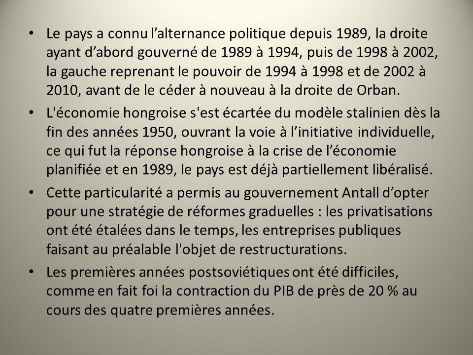 Le pays a connu lalternance politique depuis 1989, la droite ayant dabord gouverné de 1989 à 1994, puis de 1998 à 2002, la gauche reprenant le pouvoir