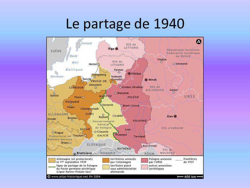 Le partage de 1940