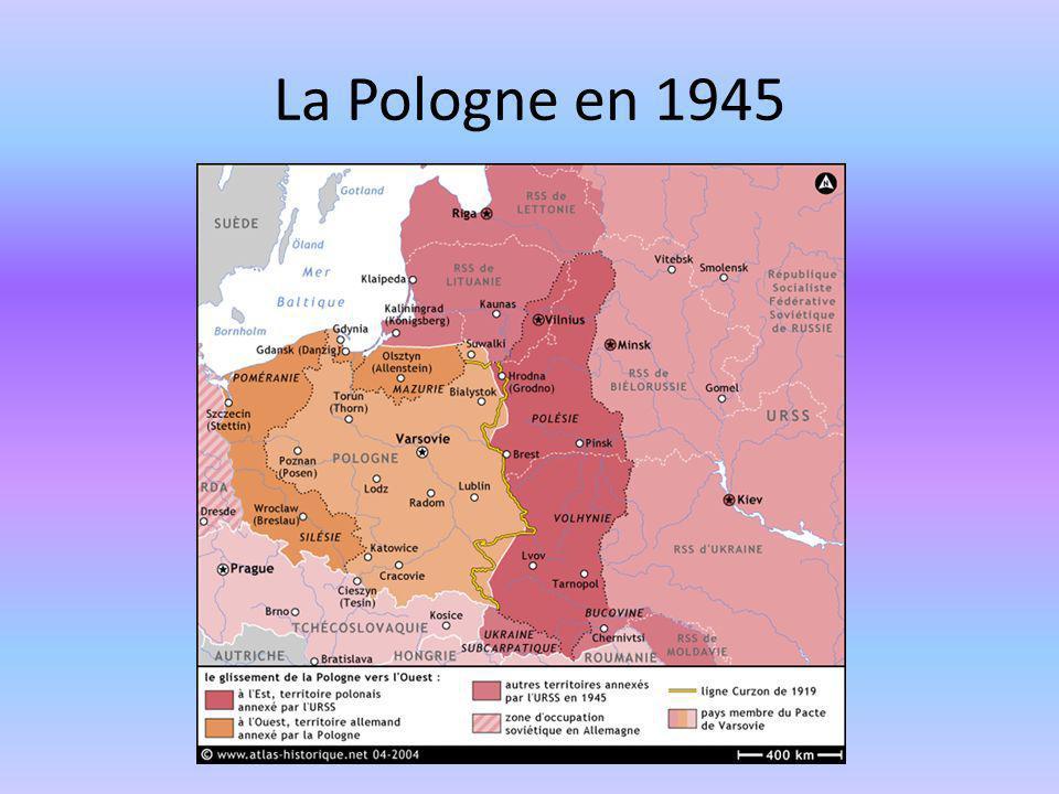 La Pologne en 1945