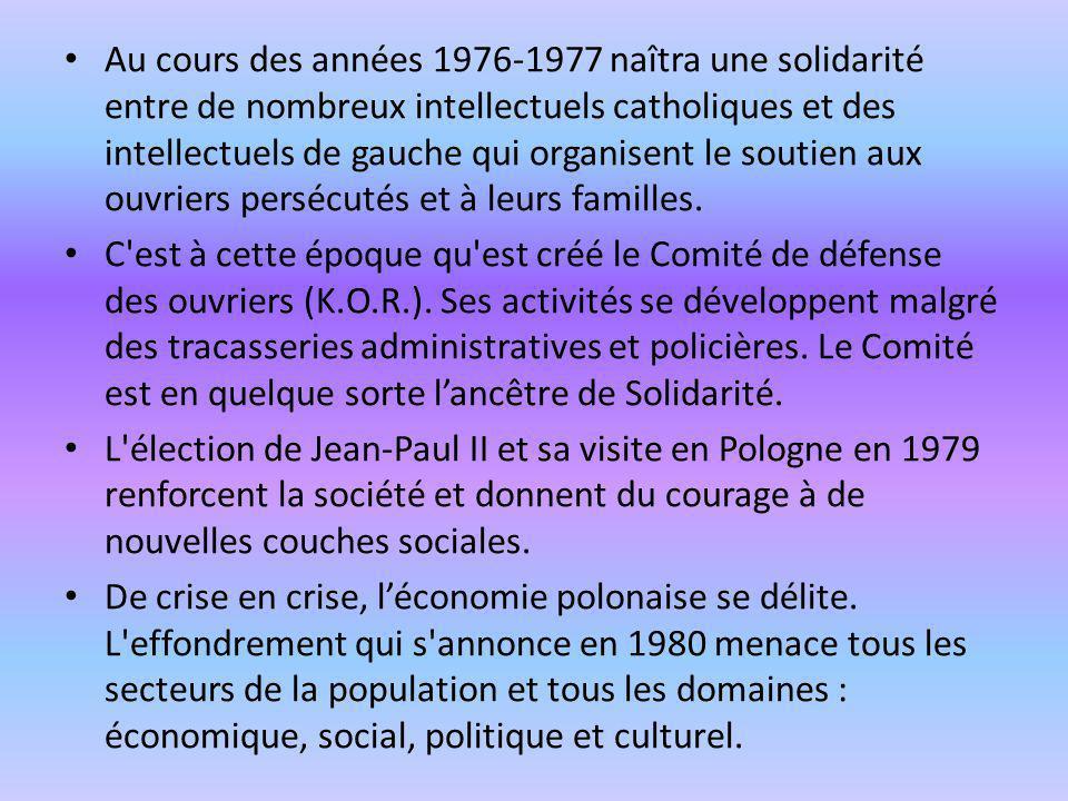Au cours des années 1976-1977 naîtra une solidarité entre de nombreux intellectuels catholiques et des intellectuels de gauche qui organisent le souti