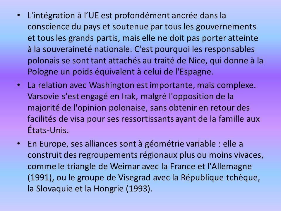 L'intégration à lUE est profondément ancrée dans la conscience du pays et soutenue par tous les gouvernements et tous les grands partis, mais elle ne