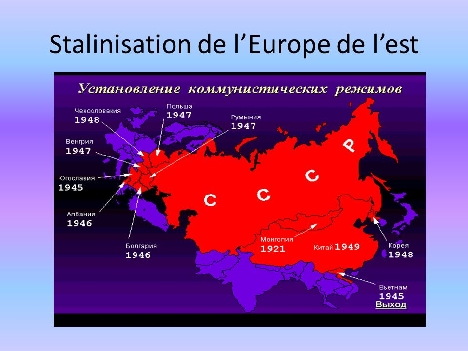 Stalinisation de lEurope de lest
