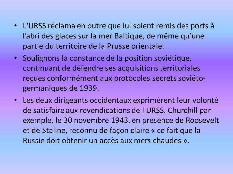 3 – La réaction soviétique au discours de Churchill à Fulton La réaction de Staline au discours de Fulton fut exceptionnelle et unique dans toute l histoire de l URSS.
